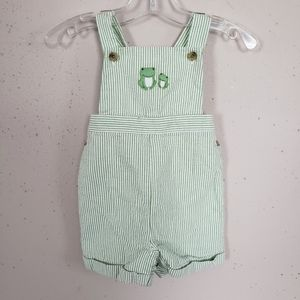 Janie And Jack Green Corrugated Romper Baby Boy